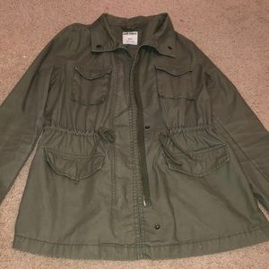 Old navy olive green army jacket